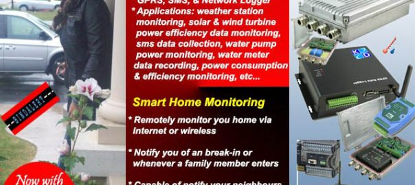 remote home monitoring, gars data logger